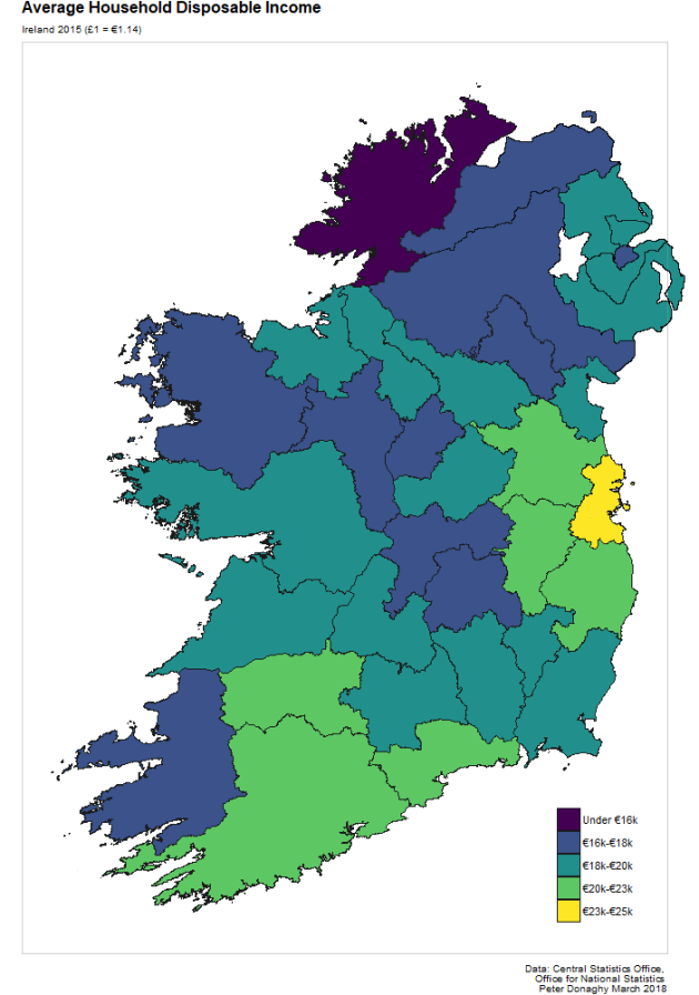 Map Of The West Of Ireland.Is Northern Ireland Dramatically Poorer Than The Republic Slugger