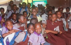 Excited Children at the event.