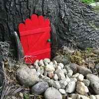 Popsicle Stick Fairy Door
