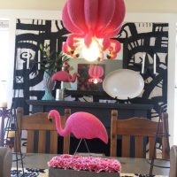 Dollar Store Flamingo Hanging Lamp