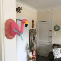 Faux Flamingo Taxidermy