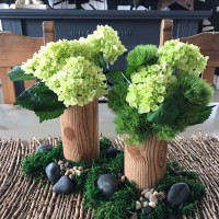 Dollar Store Faux Wood Vase/Centerpiece