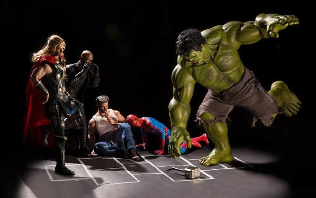 toys photography avengers fun