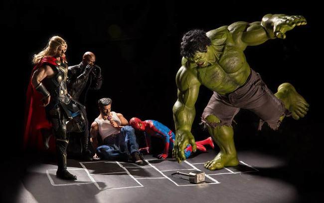 toys photography avengers fun