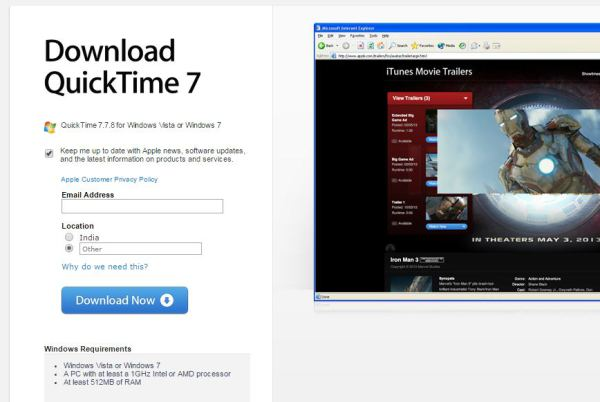 quicktime for pc download