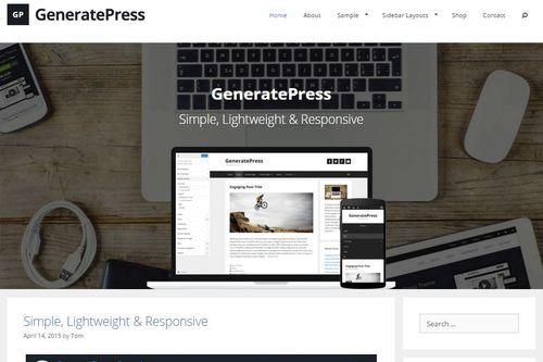 generatepress responsive wordpress theme