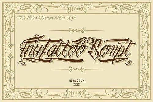 inutattoo script font