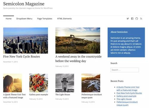 semicolon wordpress theme