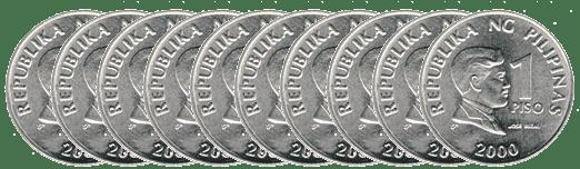 11 pesos