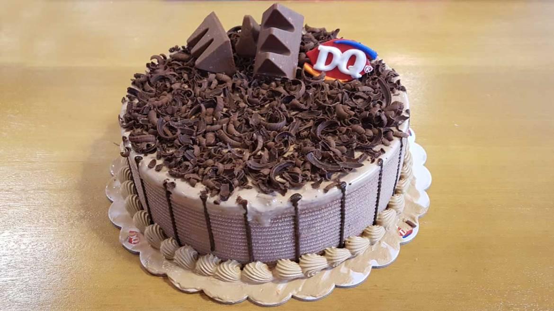 DQ Toblerone Blizzard cake