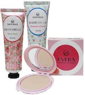 EB Naturals Hand Cream and EB Evera Compact Powder