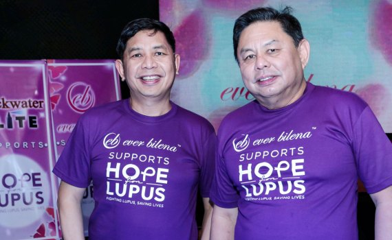 Ever Bilena supports hope for lupus run