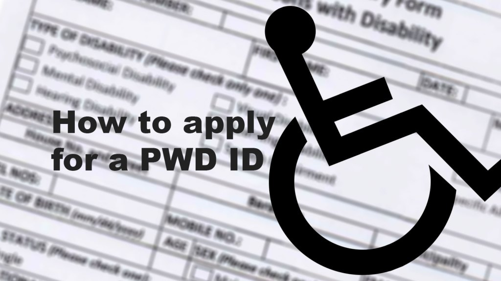 how to apply for a pwd id
