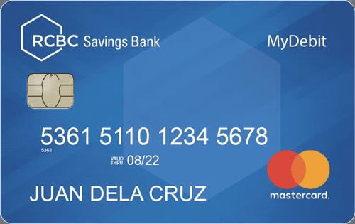 rcbc savings bank mydebit card