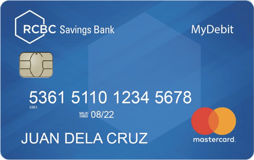 rcbc savings bank mydebit card