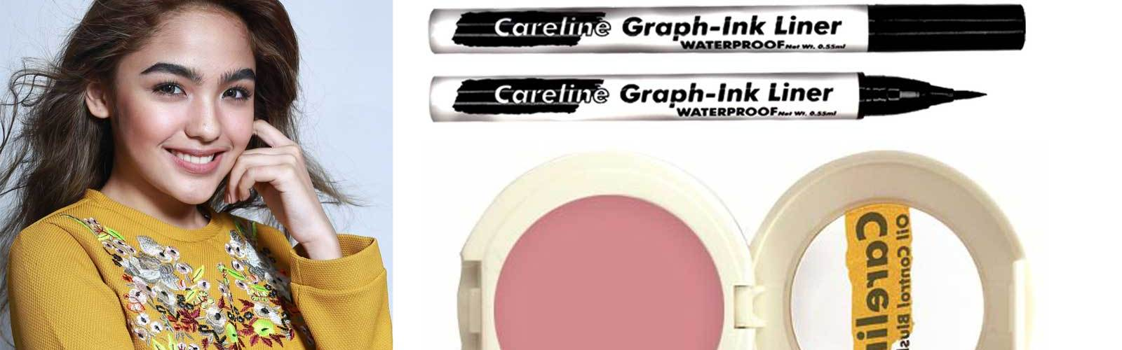 Ever Bilena Careline Graph-Ink Liner and Oil Control Blush-on