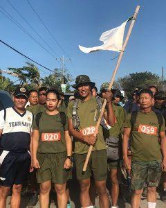 Marchers from KM Zero in Mariveles, Bataan.