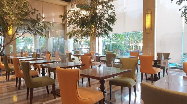 Cafe Ilang Ilang's Atrium with dining dividers