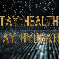 Staying hydrated helps prevent illnesses during the rainy season