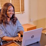 Social Media Manager happy about video content marketing efforts