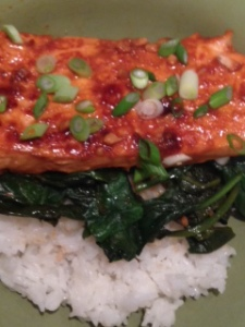 Sweet 'n Spicy Sriracha-Glazed Salmon