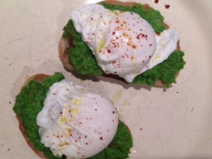 Poached Egg and Sweet Pea Toast