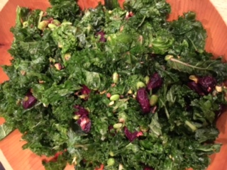 Kale, Roasted Beet and Edamame Salad
