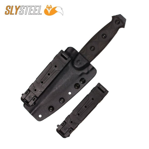 Skeletek Dagger with MOLLE Lok for webbing boot knife for self-defense, military, and law enforcement by SLYSTEEL