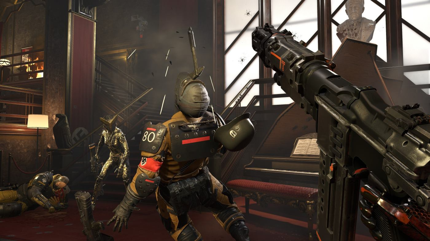 Direct-feed screenshot of Wolfenstein Youngblood, as showcased at E3 2019.