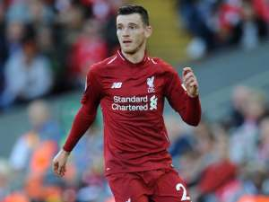 Andrew Robertson in action for Liverpool on August 25, 2018