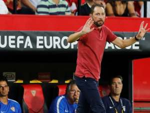 Sevilla manager Pablo Machin during a Europa League match in September 2018