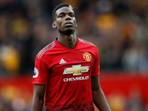 Paul Pogba reacts while in action for Manchester United on September 22, 2018