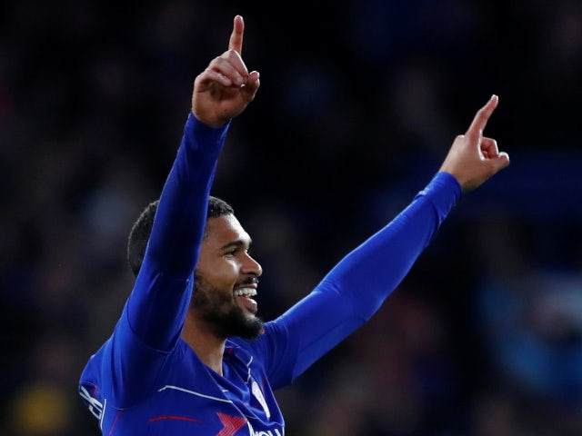 Ruben Loftus-Cheek celebrates his third goal of the night in Chelsea's 3-1 win over BATE Borisov on October 25, 2018