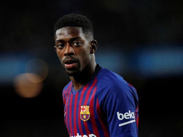 Ousmane Dembele in action for Barcelona on December 2, 2018
