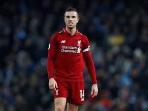 Jordan Henderson in action on January 3, 2018