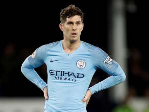 Manchester City defender John Stones in action against Everton in the Premier League on February 6, 2019
