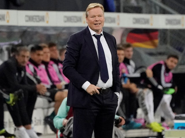 Koeman 'cannot take charge of official Barca game yet'