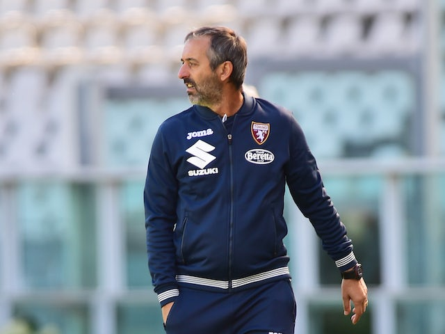 Marco Giampaolo in charge of Torino in September 2020