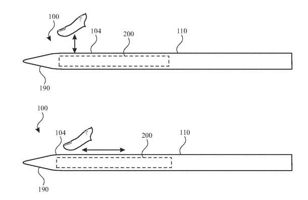 34098 61091 001 gestures l 4hvp.960 - آبل تسجل براءة اختراع لقلم Apple Pencil المستقبلي مُزوّد بأداوت تحكم إضافية حساسة للمس