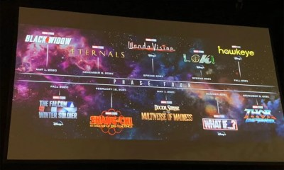 Marvel Unveils Phase 4 Slate At Comic Con. Black Widow, The Eternals, Blade, Thor 4 Announced