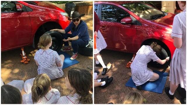 Una scuola contro gli stereotipi di genere insegna alle ragazzine a cambiare la gomma dell'auto