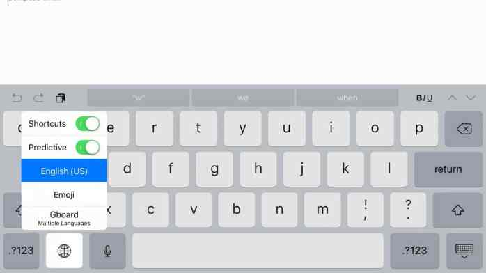 Activate Keyboard