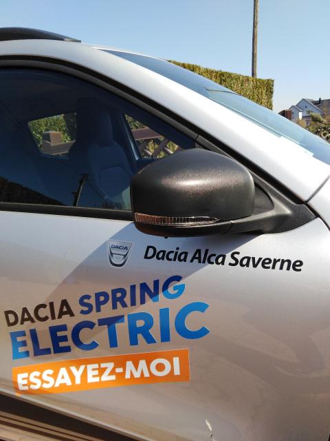 Véhicule d'essai Dacia Spring Saverne