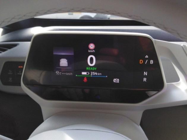 VW ID.3 tableau de bord, estimation autonomie
