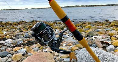 Hjul og stang til havørredfiskeriet