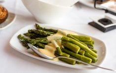 Asparagus with Meyer lemon hollandaise