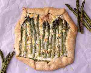 Asparagus and Goat Cheese Savory Galette