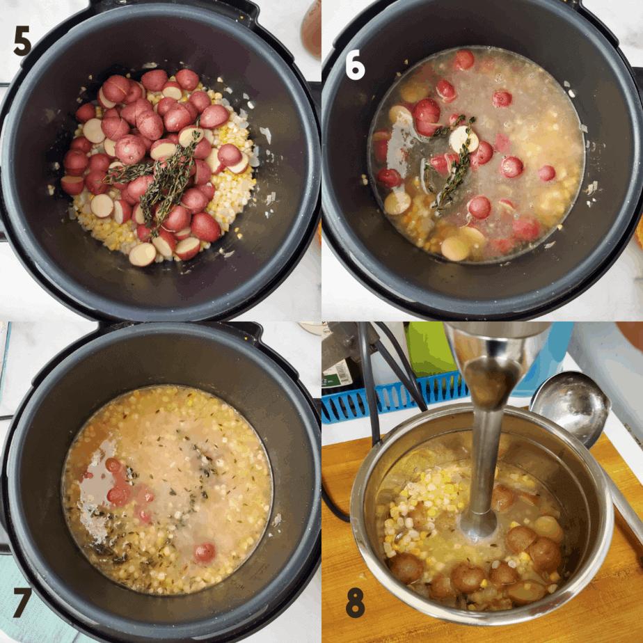 2x2 process photo collage.