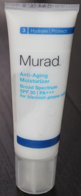 Murad Anti-Aging Moisturizer SPF 30 for blemish prone skin