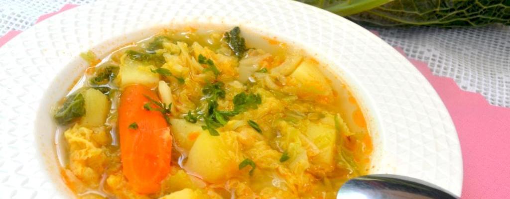 Zupa Z Kapusty Wloskiej Smakowite Dania